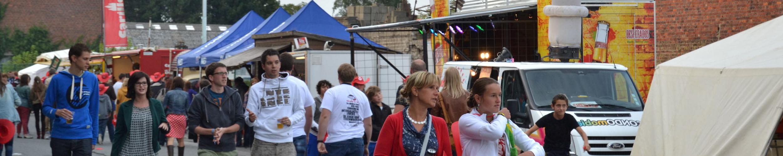 Op het festivalterrein